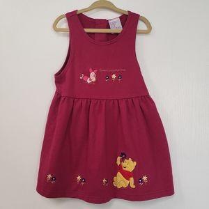 Disney Winnie the Pooh & Piglet dress  3T